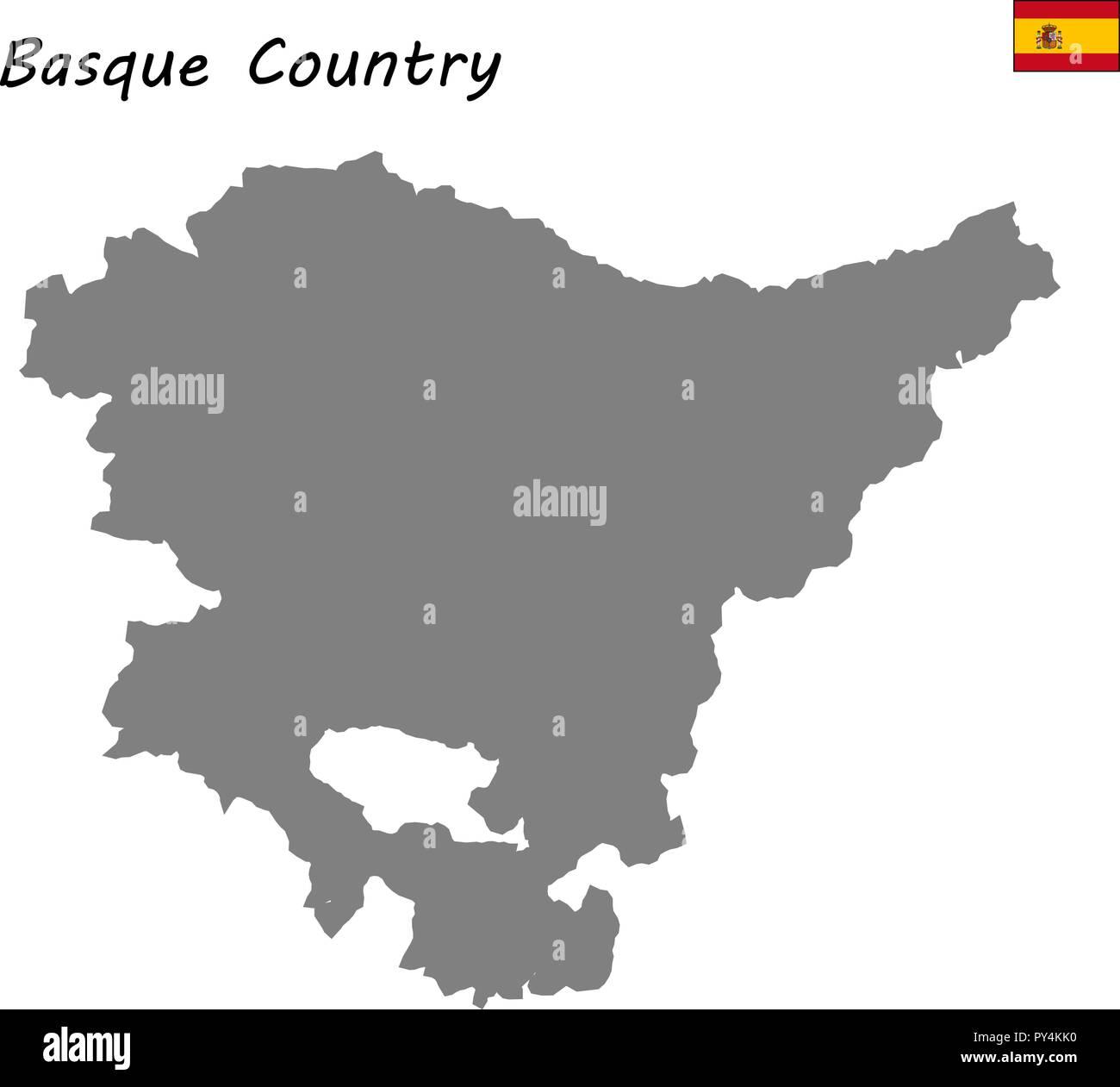 Mapa de alta calidad comunidad autónoma de España. País Vasco ...
