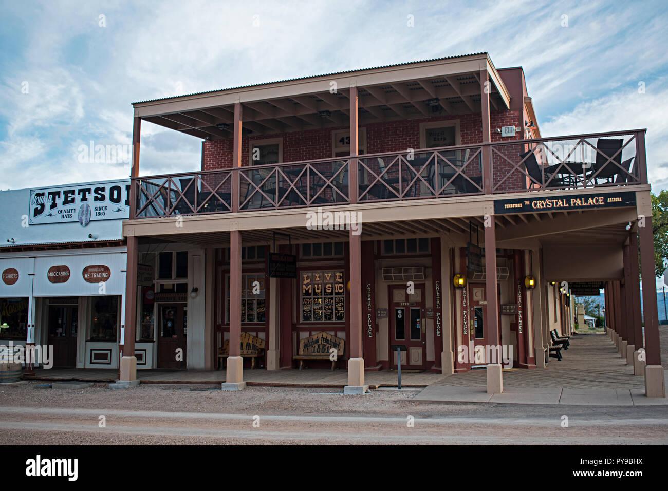 Crystal Palace. Tombstone Arizona, EE.UU. Foto de stock