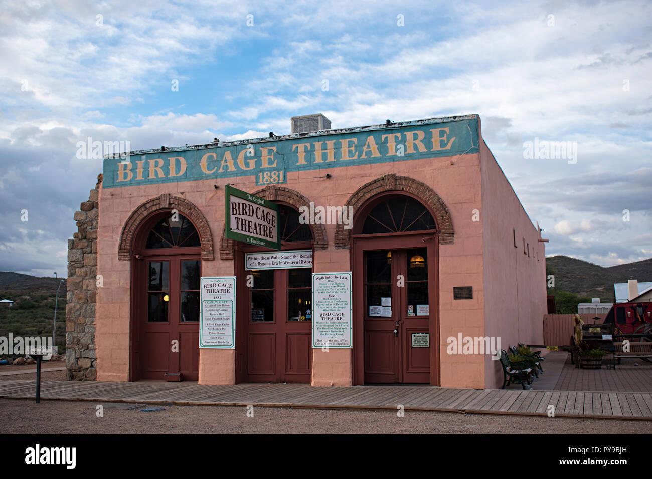 Bird Cage Theatre. Tombstone Arizona, EE.UU. Foto de stock