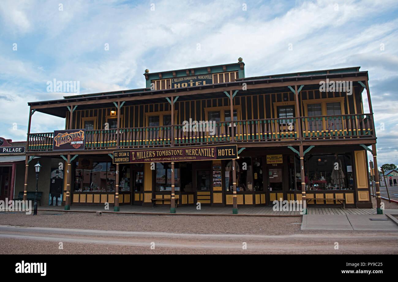 T. Miller's Mercantile. Tombstone Arizona, EE.UU. Foto de stock