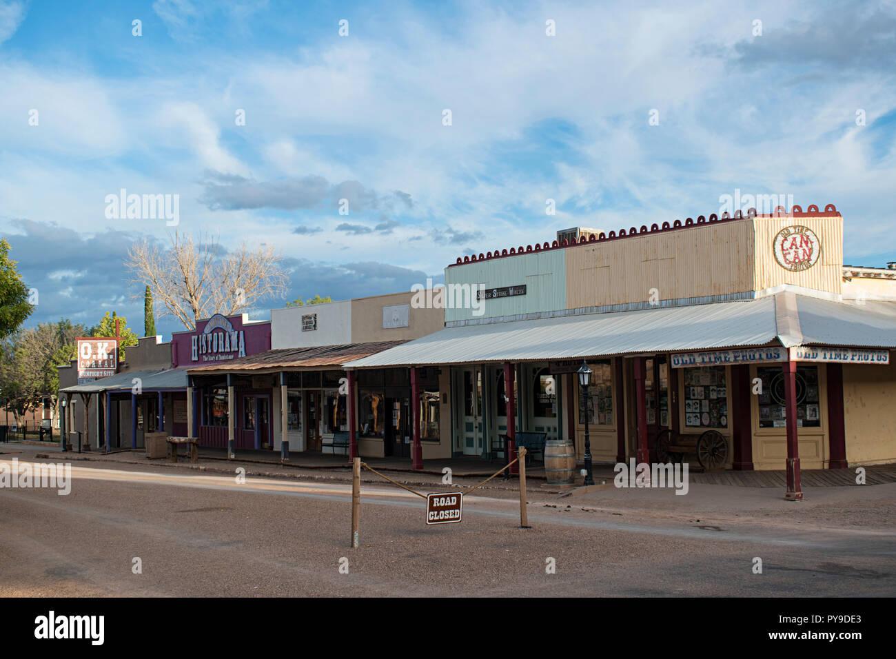 Allen Street Tombstone, Arizona, EE.UU. Foto de stock