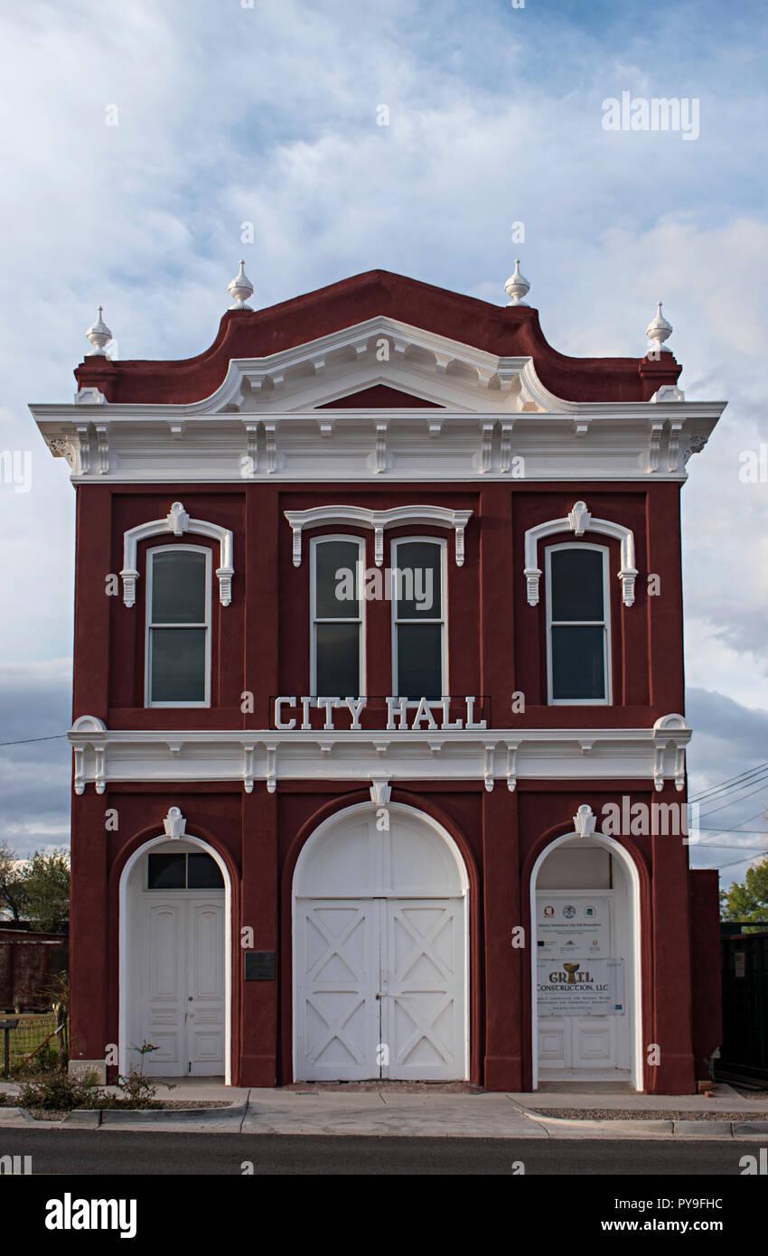 El Ayuntamiento de la ciudad. Tombstone Arizona, EE.UU. Foto de stock