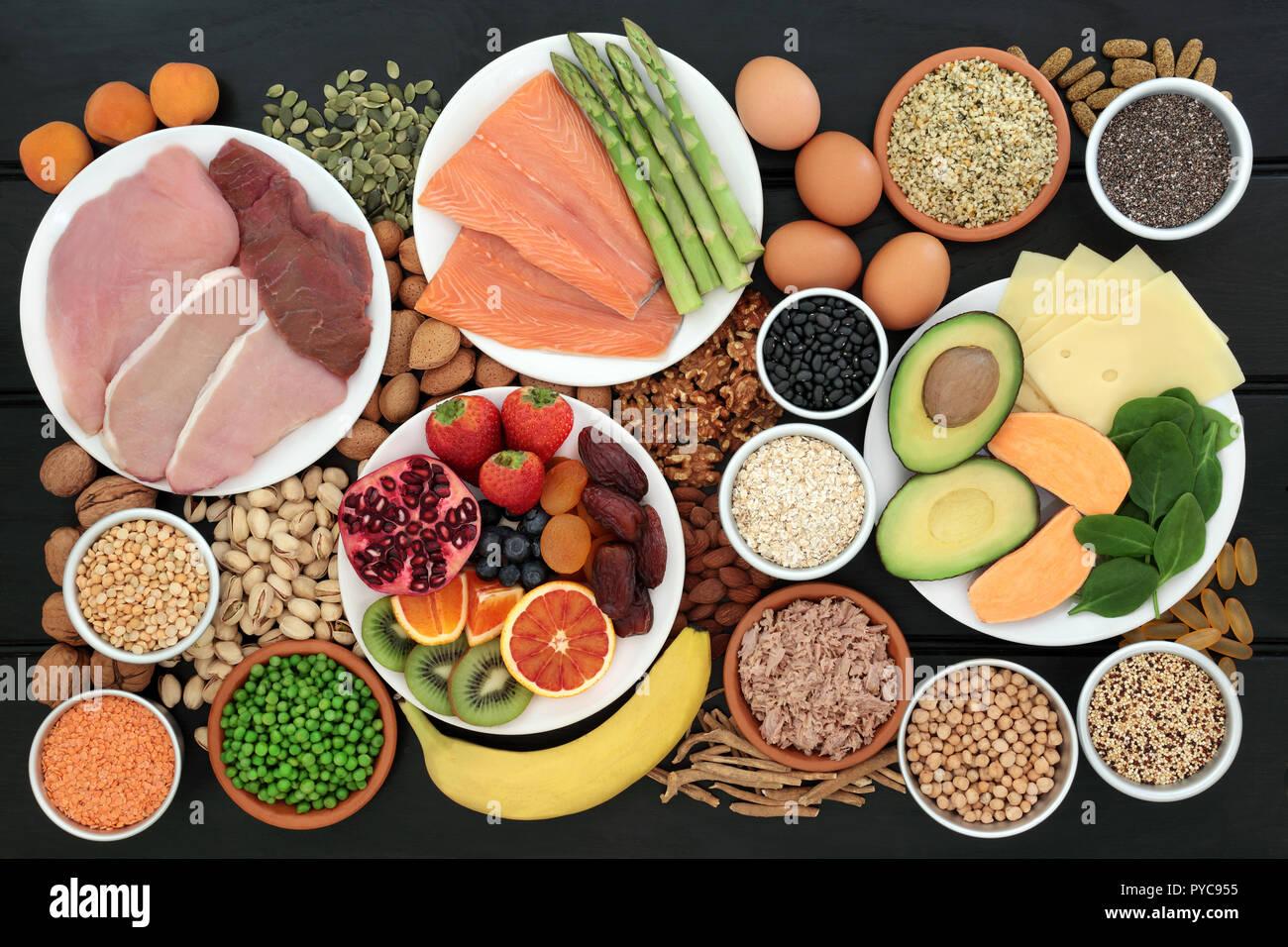 Súper alimento para los constructores del cuerpo con alto contenido en  proteínas como la carne, el