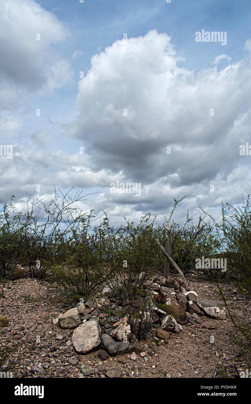 Fairbank cementerio. Condado de Cochise, Arizona. Ee.Uu. Foto de stock