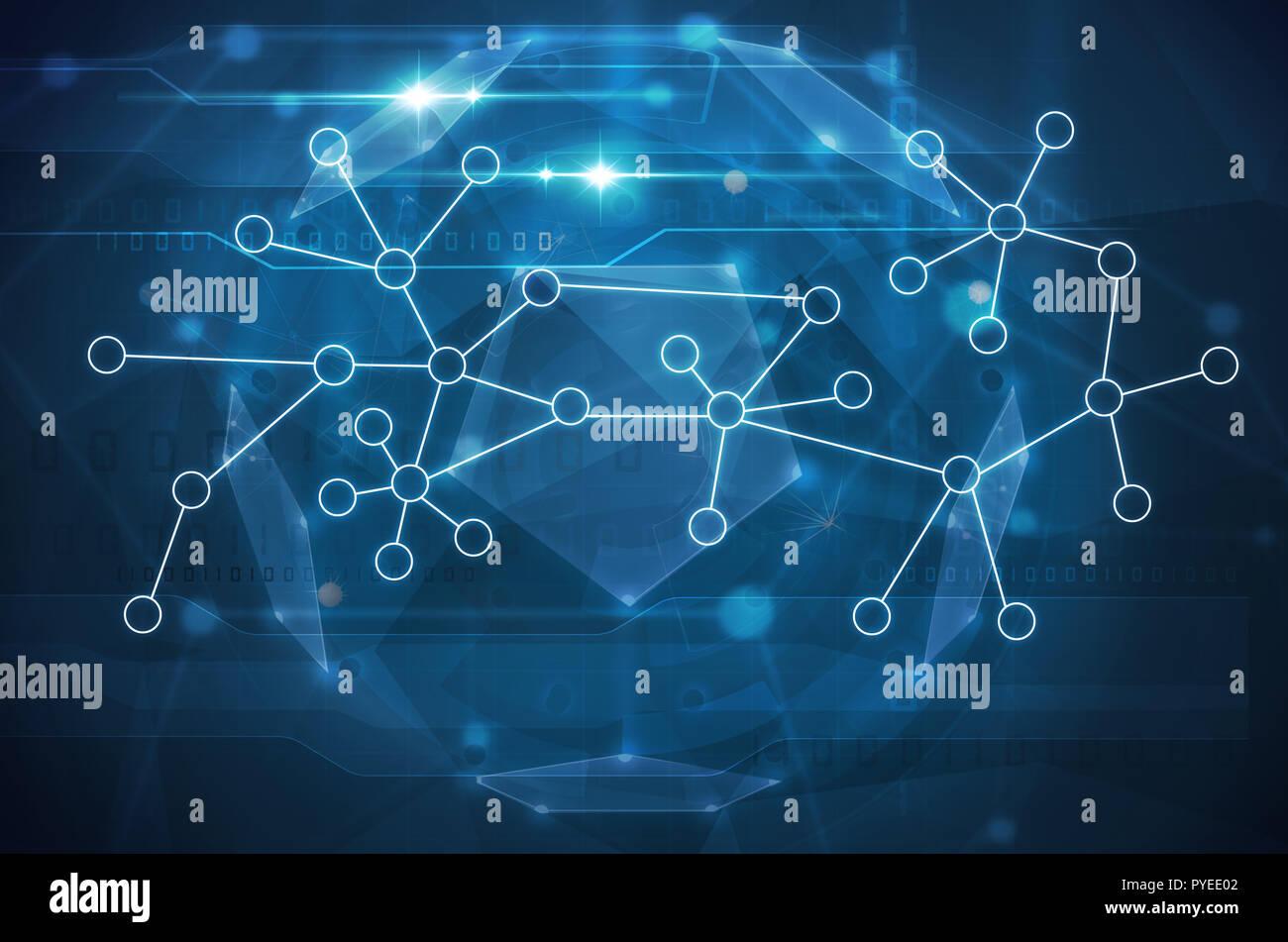 Resumen Antecedentes La biotecnología moléculas. Imagen De Stock