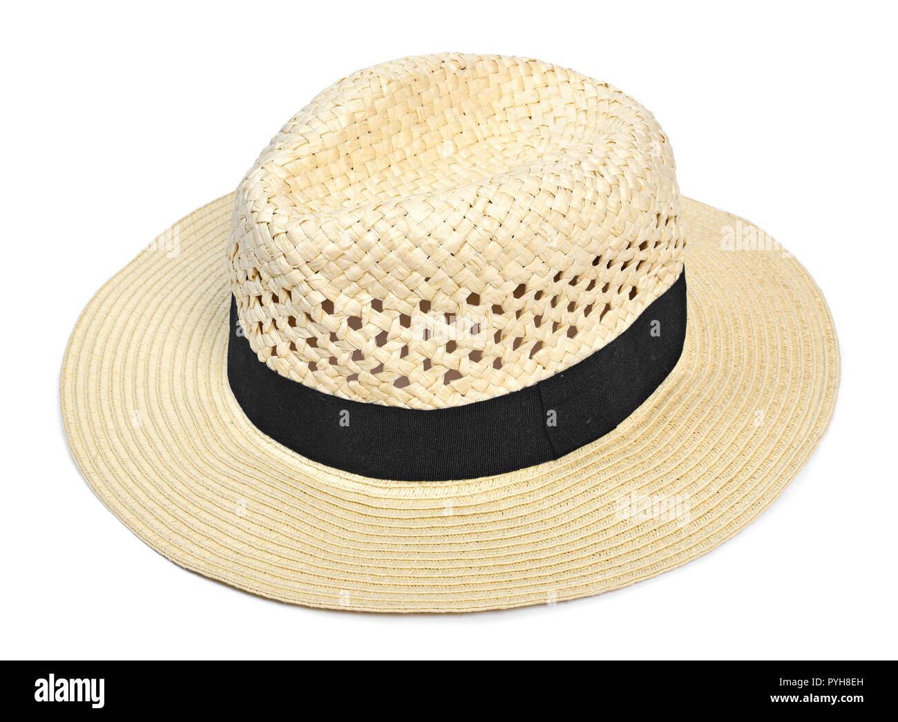 79cda9a09afcf Sombrero Panamá sombrero tradicional de verano con negro hatband o ribbon