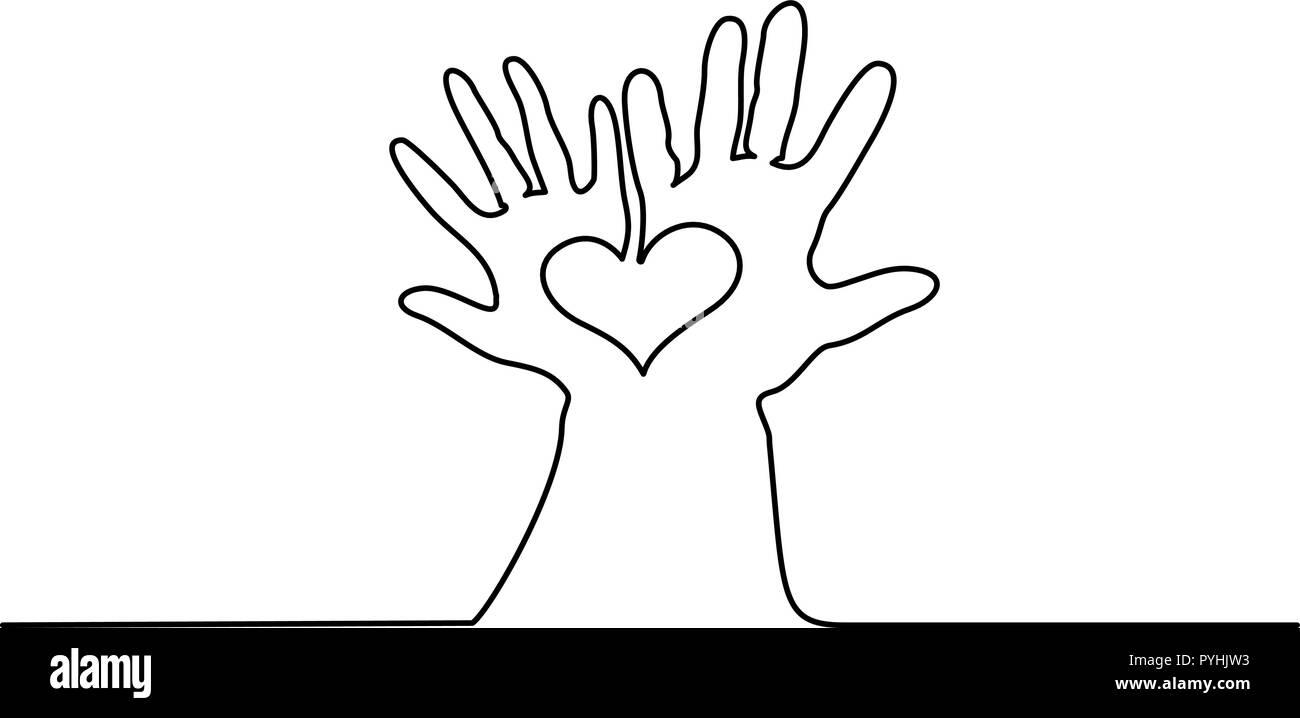 Heart Hands Vector Imágenes De Stock Heart Hands Vector Fotos De