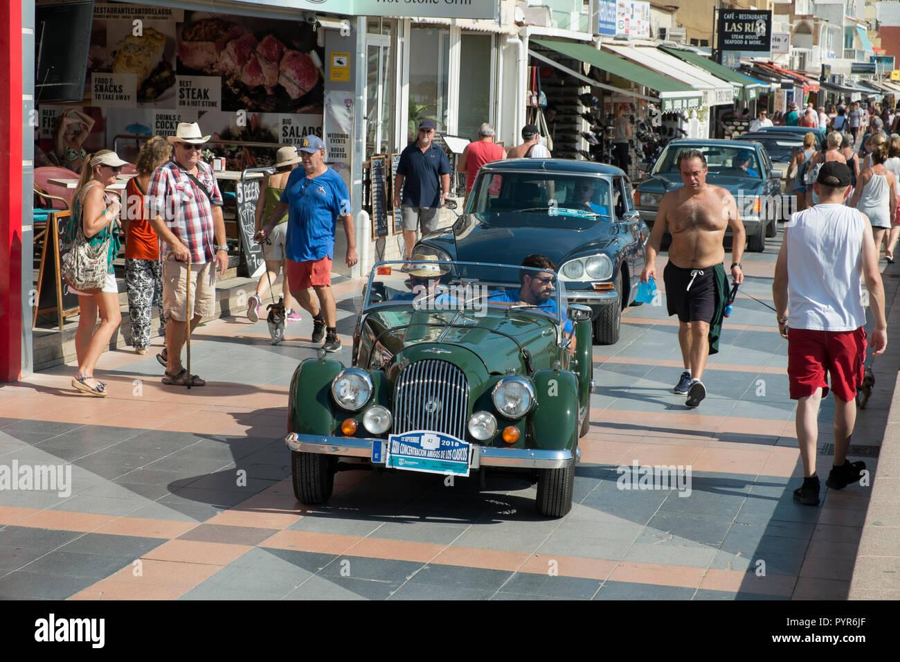 Morgan. Reunión de coches clásicos en Torremolinos, Málaga, España. Foto de stock