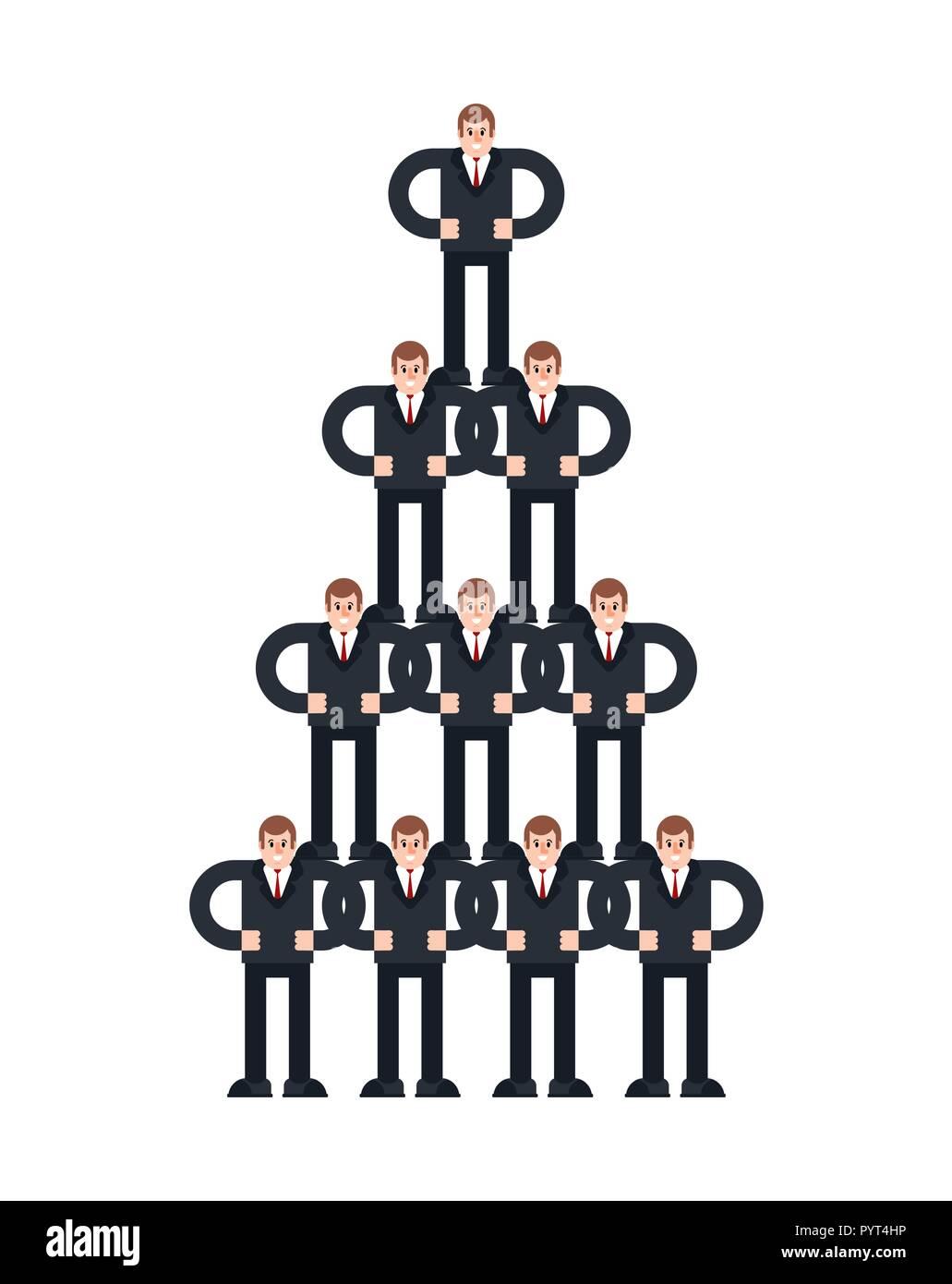 Empresa Líder De Estructura Piramidal Sistema De Negocios