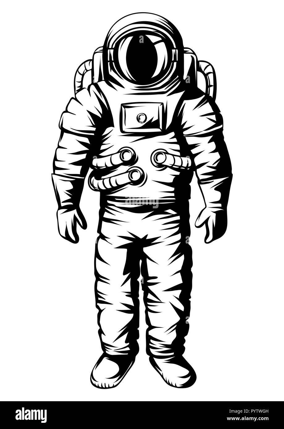 Ilustración de astronauta. Spaceman en traje. Ilustración del Vector