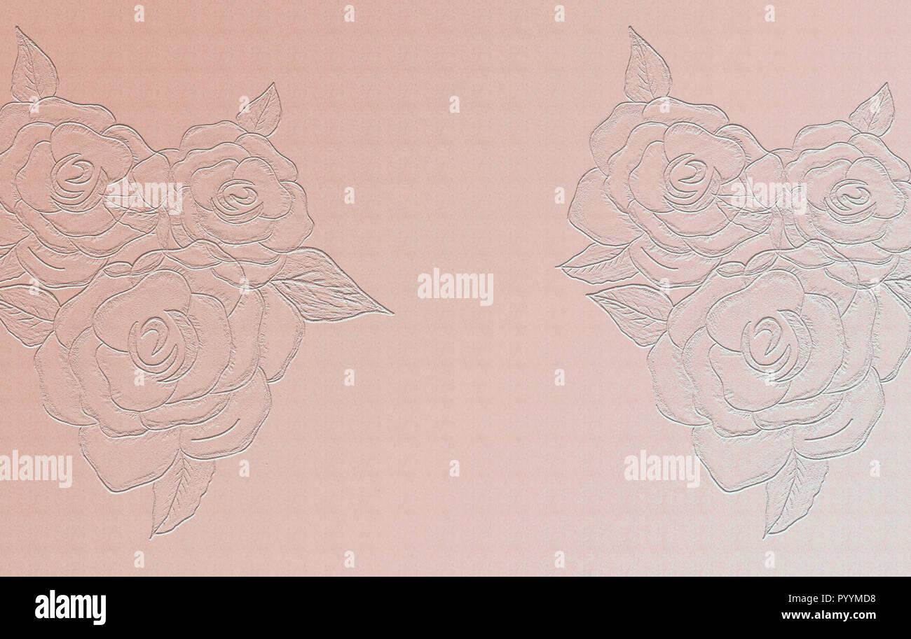 Rosa//rojo de flores 18 mm gris de sat/én de Fany en relieve de mujer con 3 m de largo N.B, se trata de un corte de rollo de