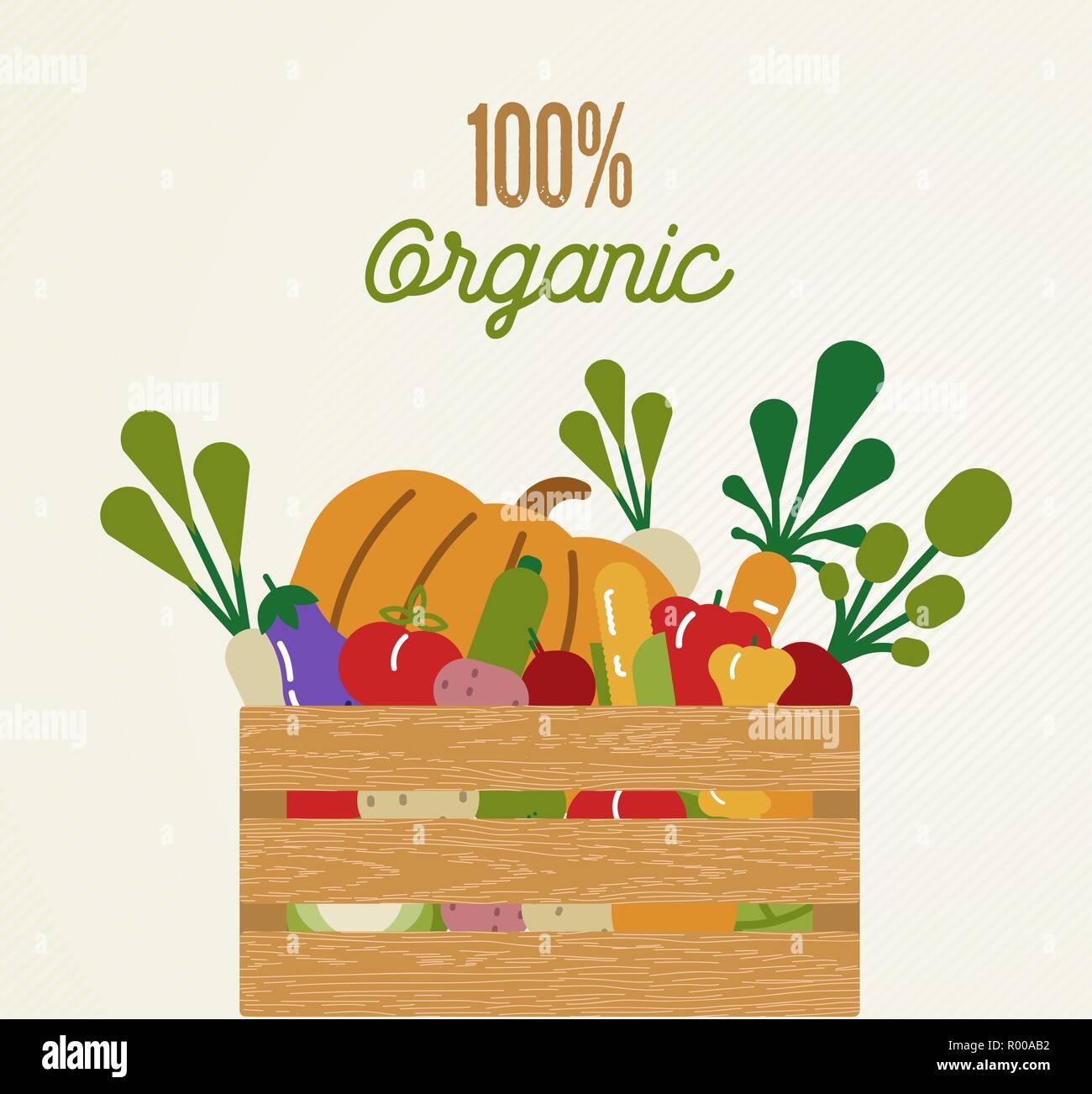 Los Alimentos Orgánicos Ilustración Del Concepto De Dieta Saludable