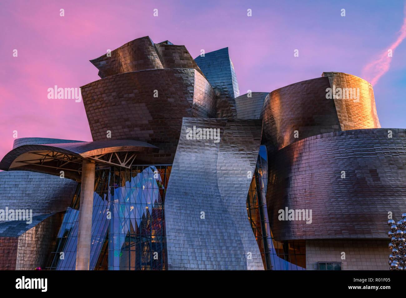 Museo Guggenheim, Bilbao, País Vasco, España, Europa Foto de stock