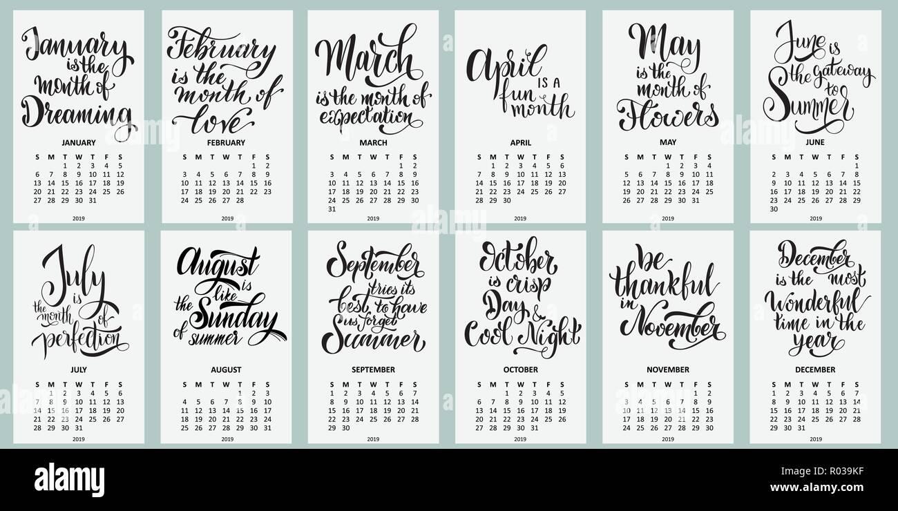 Calendario 2019 La Semana Comienza En Domingo Rotulación