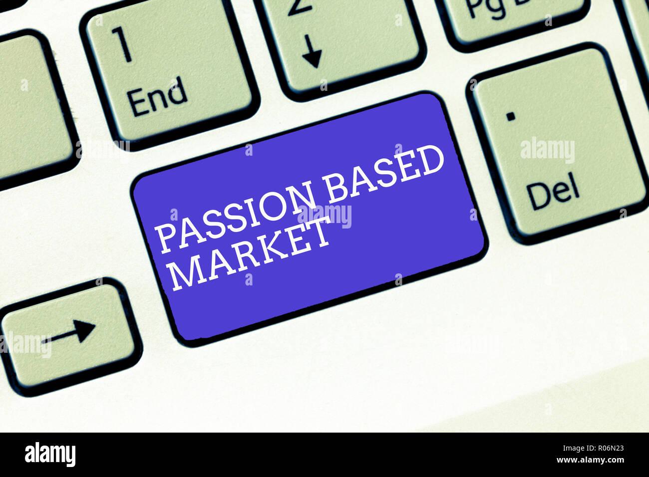 17d204dfa5c Escribir nota mostrando pasión en el mercado. Exhibición fotográfica de  negocios canal de ventas emocional de una estrategia centrada en  Personalizar.