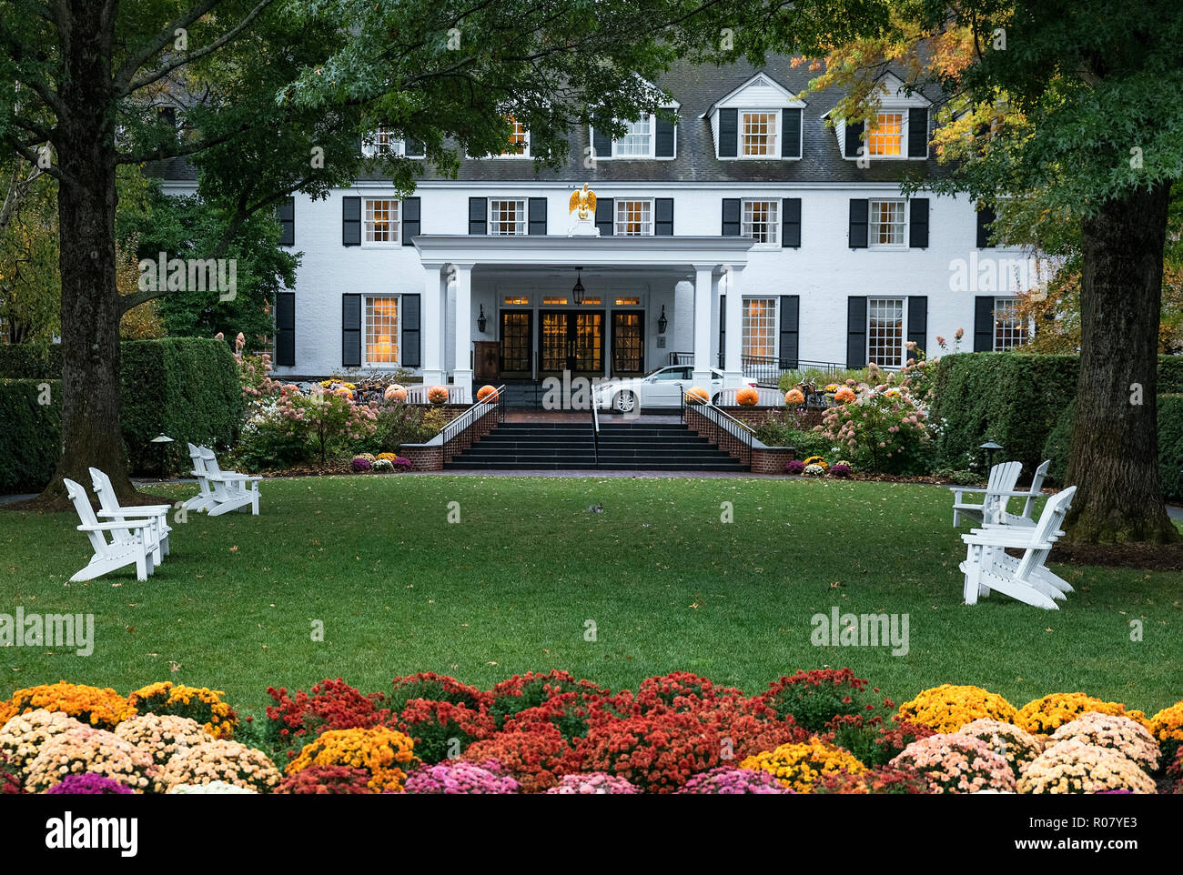 Woodstock Inn and Resort, Woodstock, Vermont, EE.UU. Foto de stock