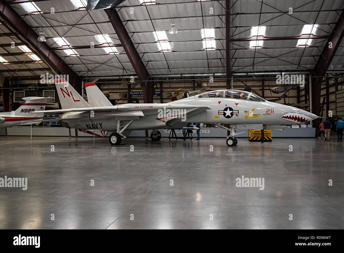 F-14A, Pima Air & Space Museum. Tucson, Arizona. Ee.Uu. Foto de stock
