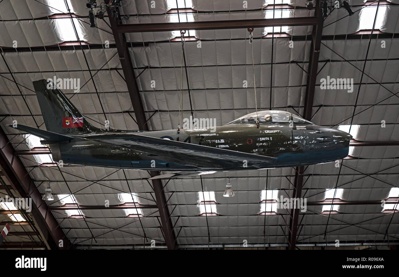 Sabre MK V, Pima Air & Space Museum. Tucson, Arizona. Ee.Uu. Foto de stock