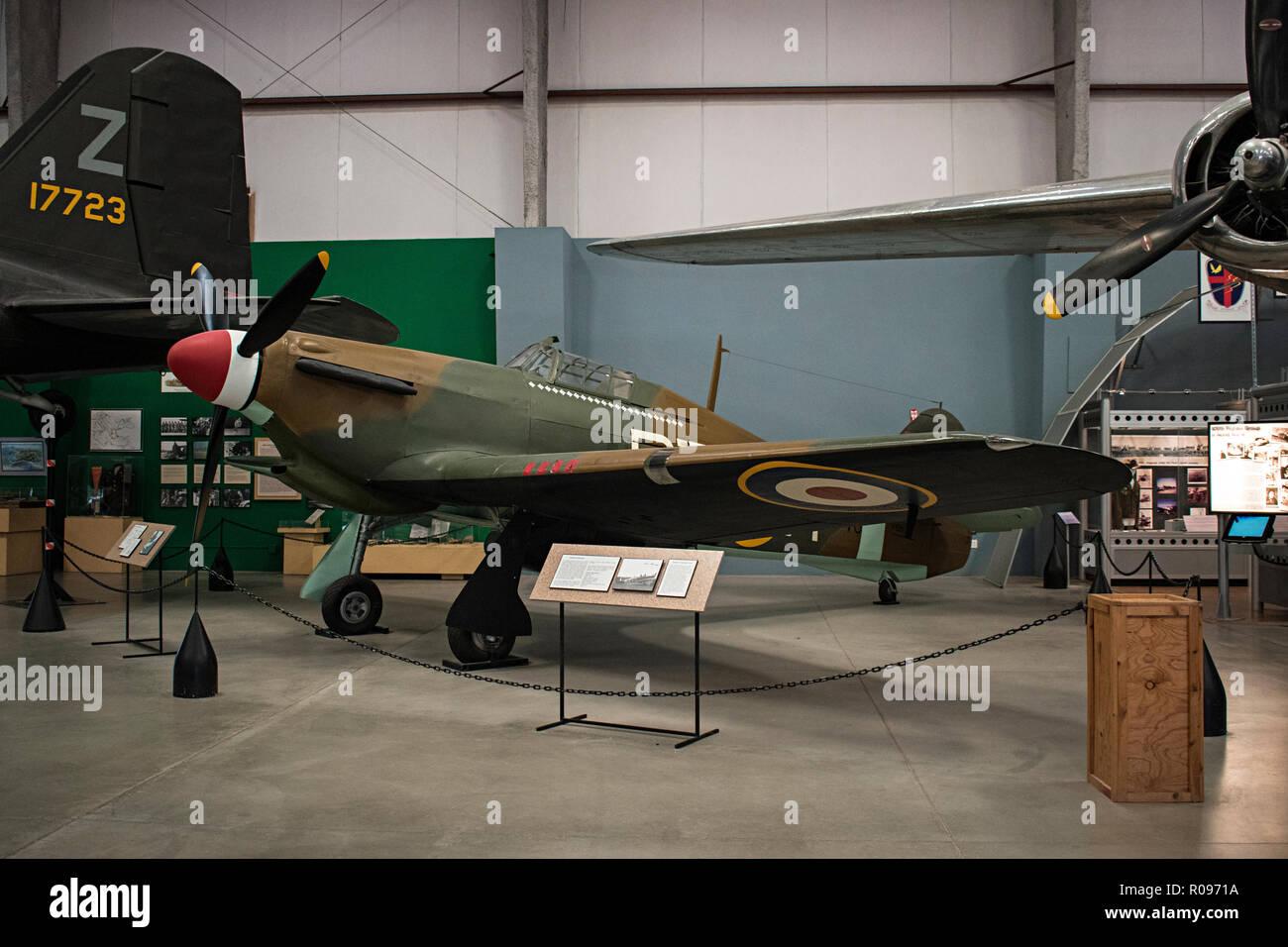 Hawker Hurricane, Pima Air & Space Museum. Tucson, Arizona. Ee.Uu. Foto de stock