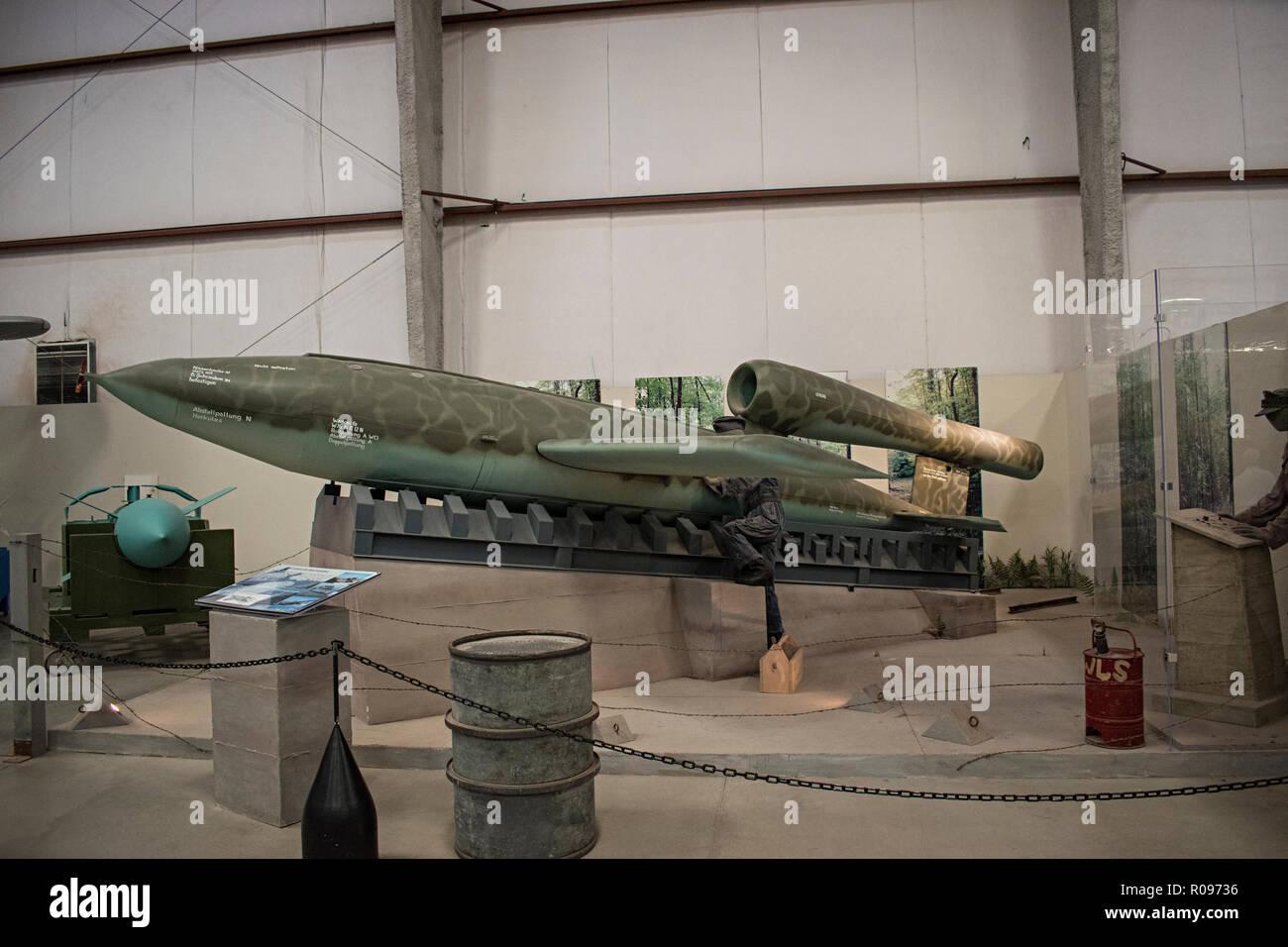 V-1 Buzzbomb, Pima Air & Space Museum. Tucson, Arizona. Ee.Uu. Foto de stock