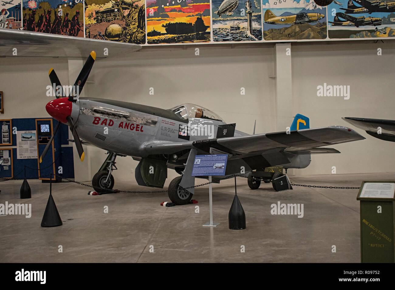 P-51 Mustang, Pima Air & Space Museum. Tucson, Arizona. Ee.Uu. Foto de stock