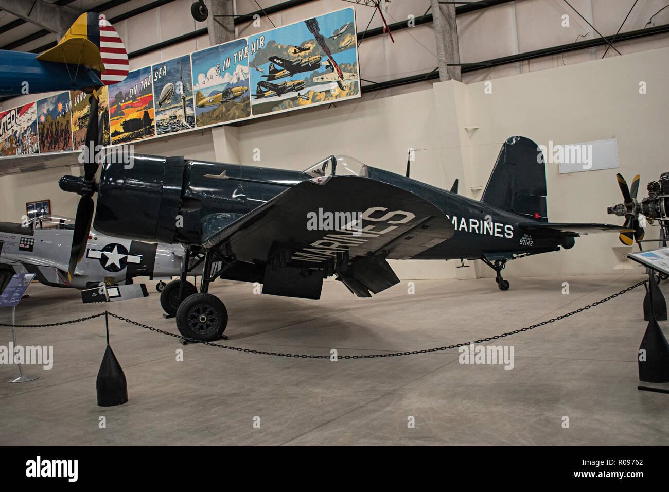 F-4U Corsair, Pima Air & Space Museum. Tucson, Arizona. Ee.Uu. Foto de stock