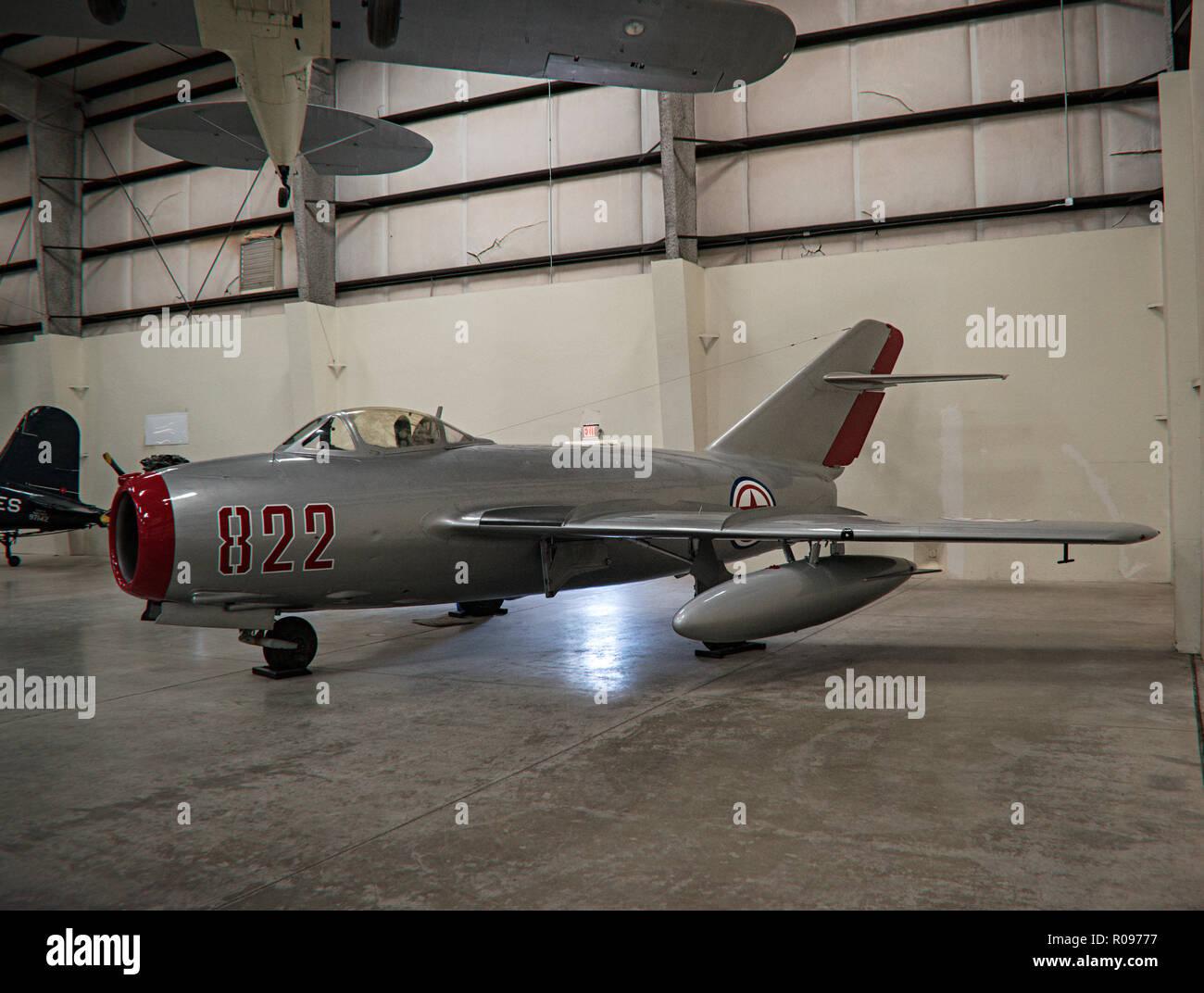 Mig-15, Pima Air & Space Museum. Tucson, Arizona. Ee.Uu. Foto de stock