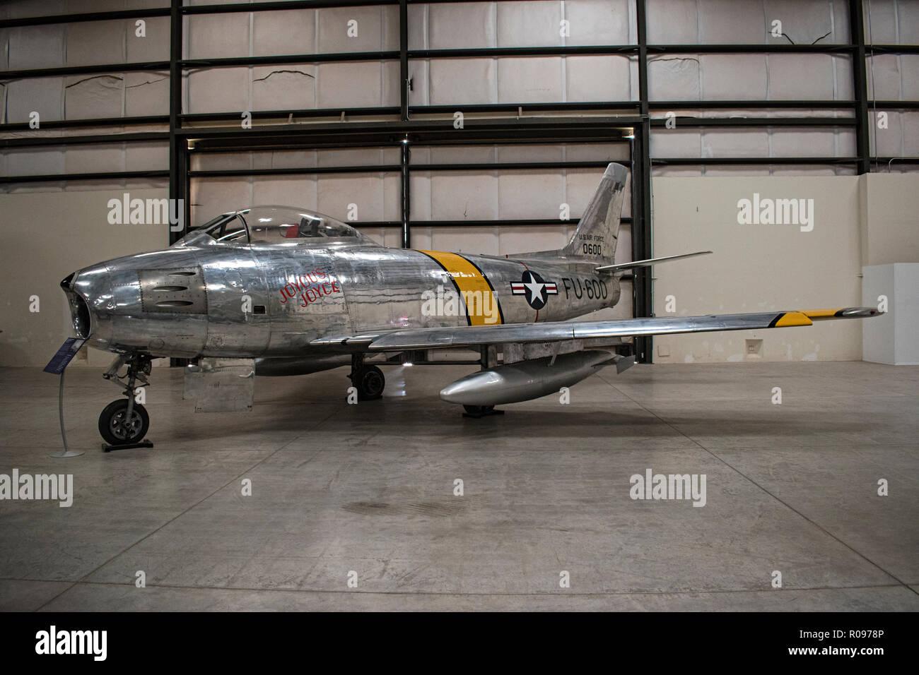 F-86 Sabre, Pima Air & Space Museum. Tucson, Arizona. Ee.Uu. Foto de stock