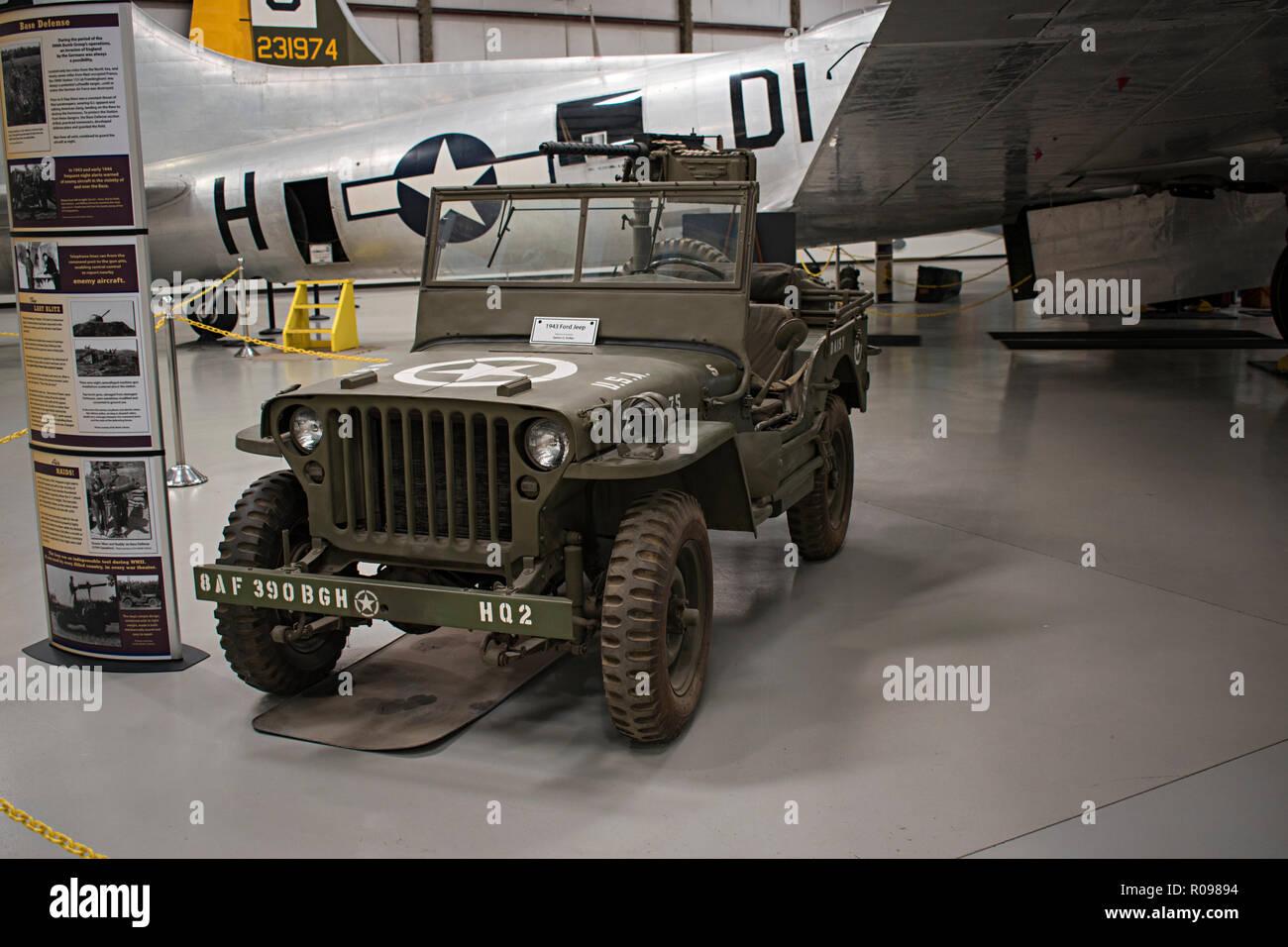 Ford Jeep, Pima Air & Space Museum. Tucson, Arizona. Ee.Uu. Foto de stock