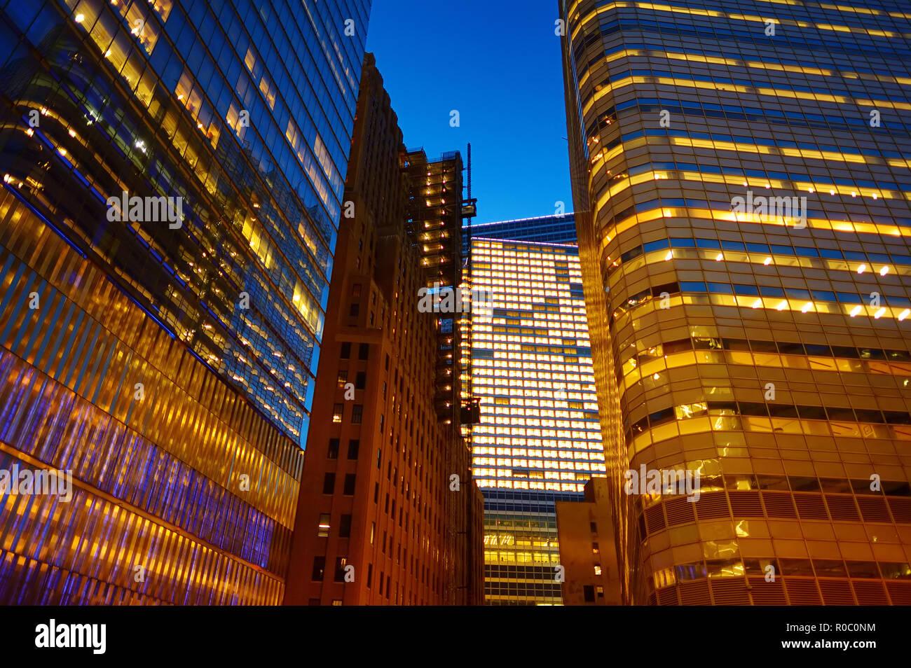 Iluminación Y Luces Nocturnas De La Ciudad De Nueva York La Vida