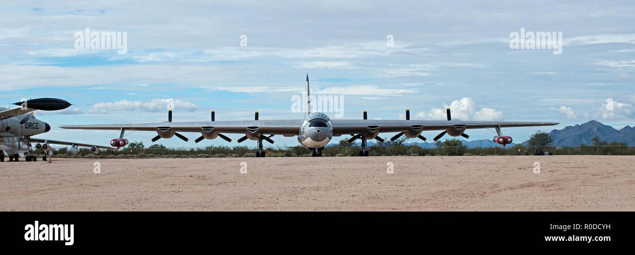 B-36 Peacemaker, Pima Air & Space Museum. Tucson, Arizona. Ee.Uu. Foto de stock