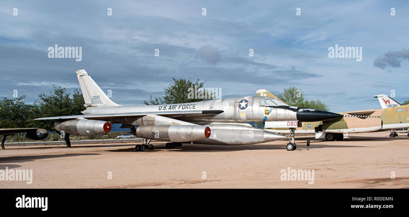 B-58 Hustler, Pima Air & Space Museum. Tucson, Arizona. Ee.Uu. Foto de stock