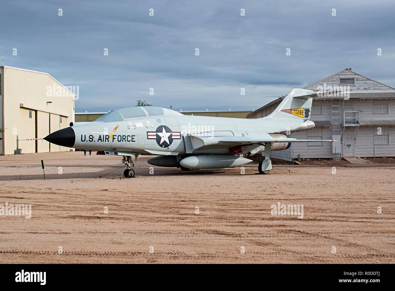 F-101, Pima Air & Space Museum. Tucson, Arizona. Ee.Uu. Foto de stock