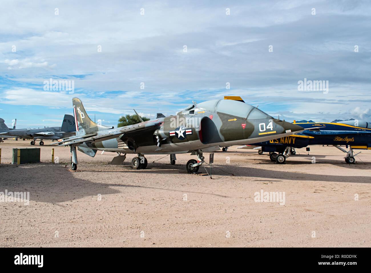Harrier, Pima Air & Space Museum. Tucson, Arizona. Ee.Uu. Foto de stock
