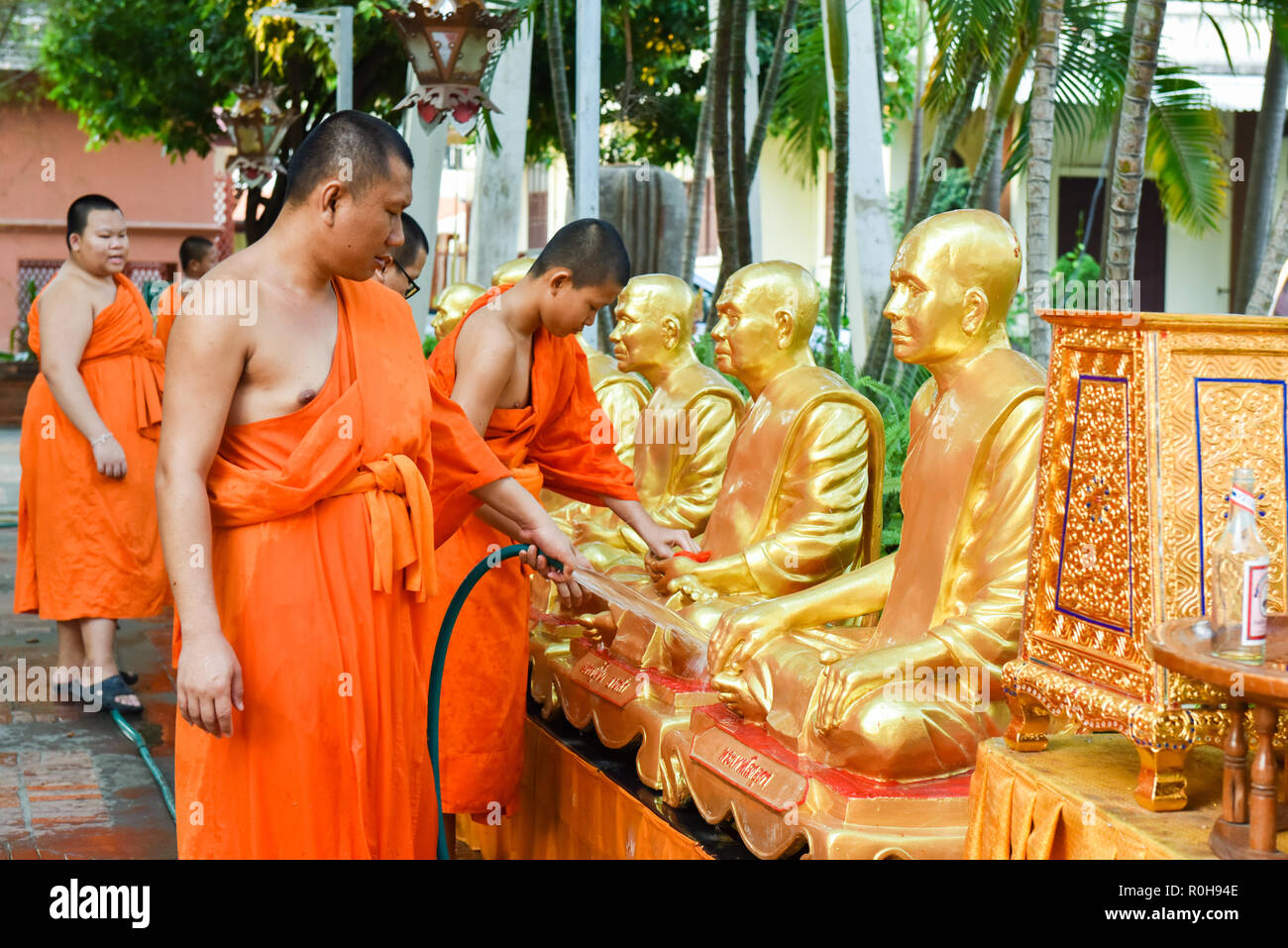 Los monjes , Chiang Mai, Tailandia Imagen De Stock