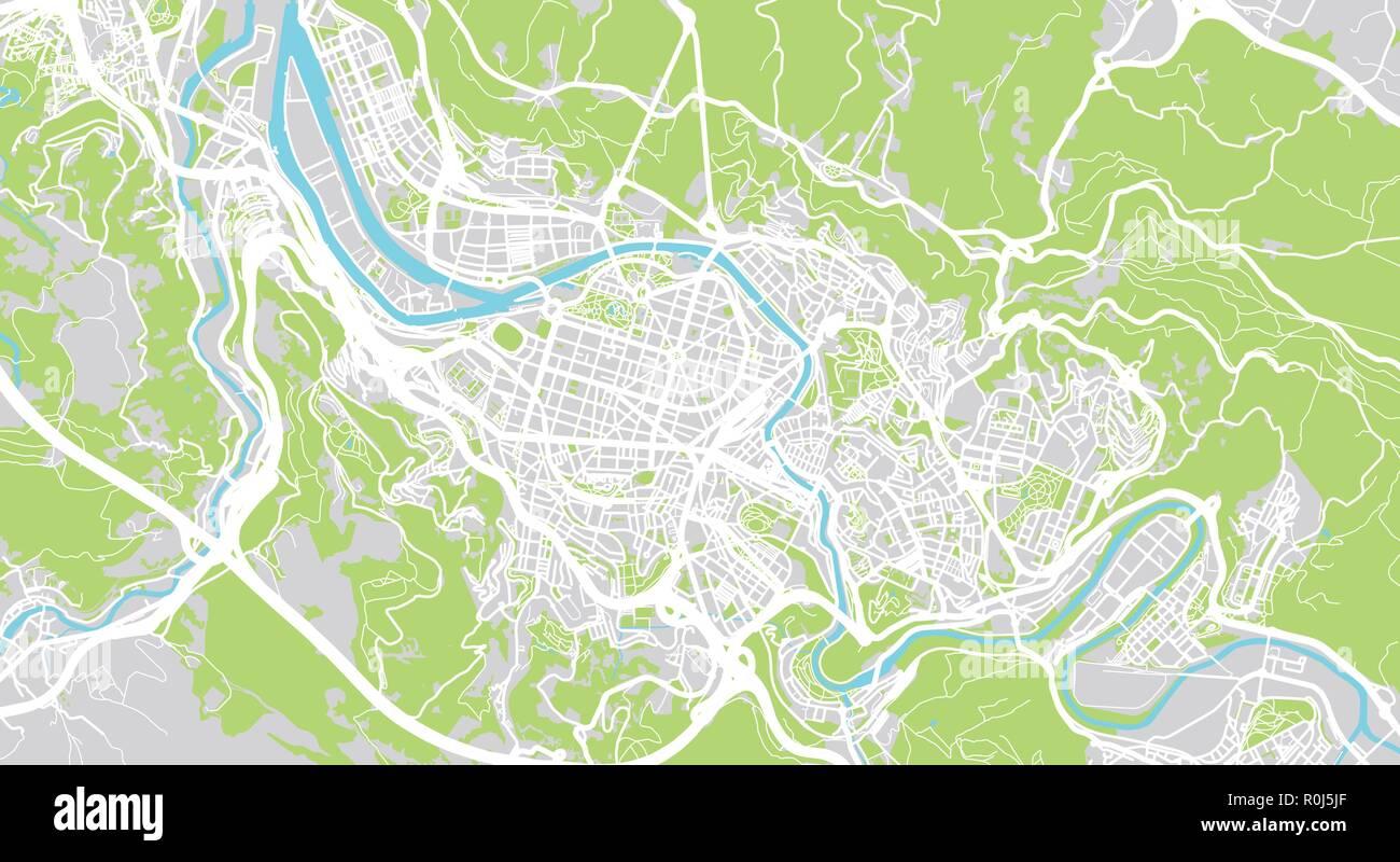 Mapa De Bilbao España.Vector Urbano Mapa De La Ciudad De Bilbao Espana