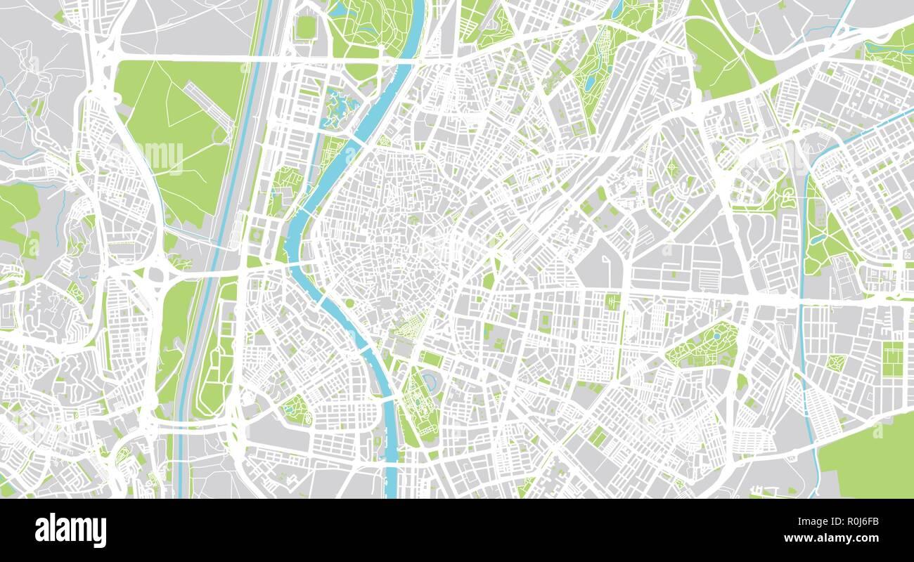 Vector Urbano Mapa De La Ciudad De Sevilla Espana Ilustracion Del