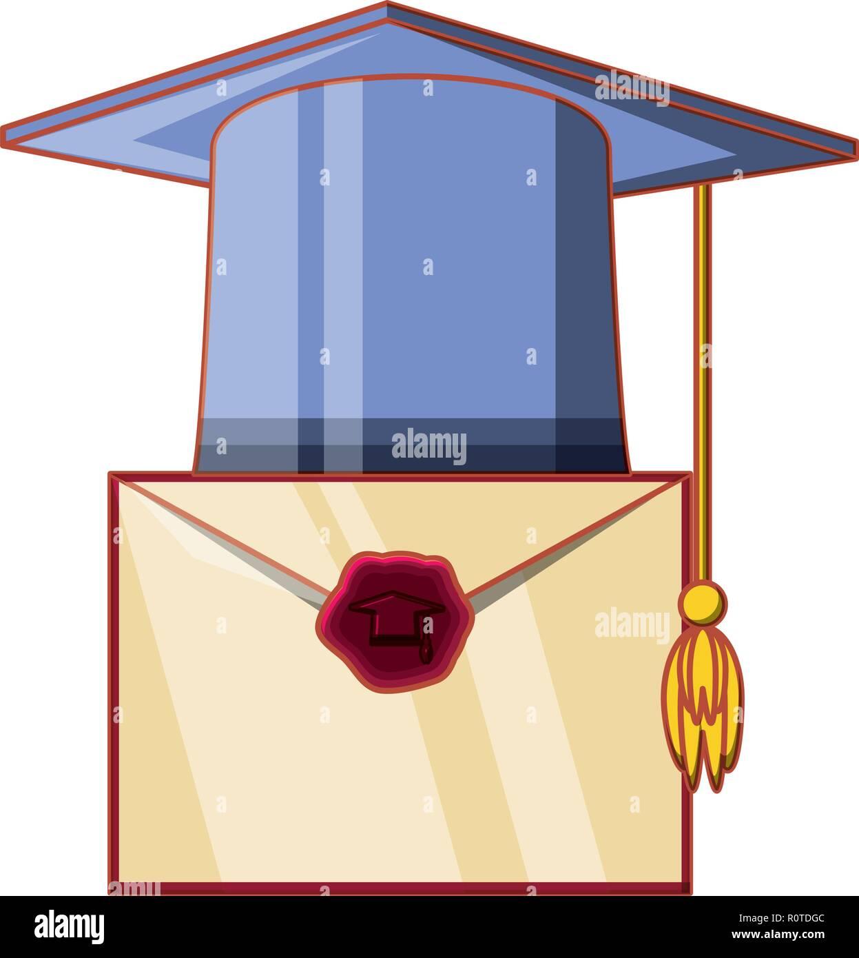 Tarjeta De Invitación Para Hat Graduación Diseño Ilustración