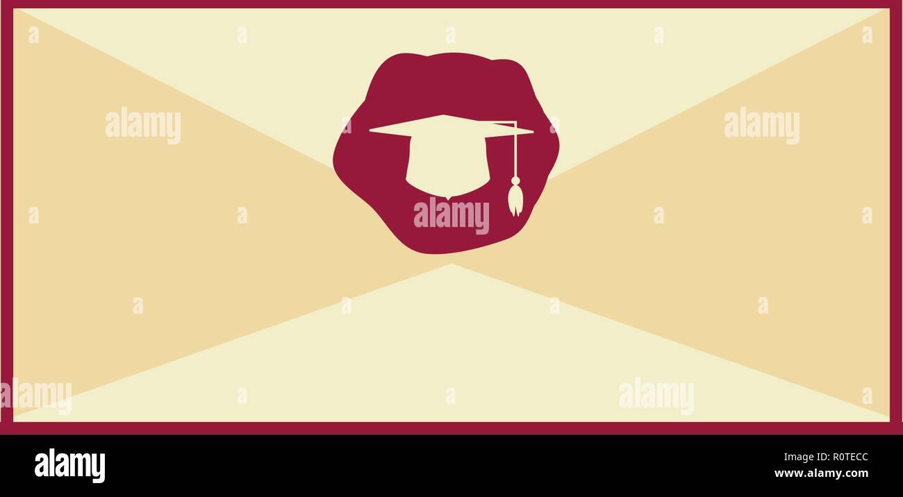 Tarjeta De Invitación Para La Graduación Diseño De