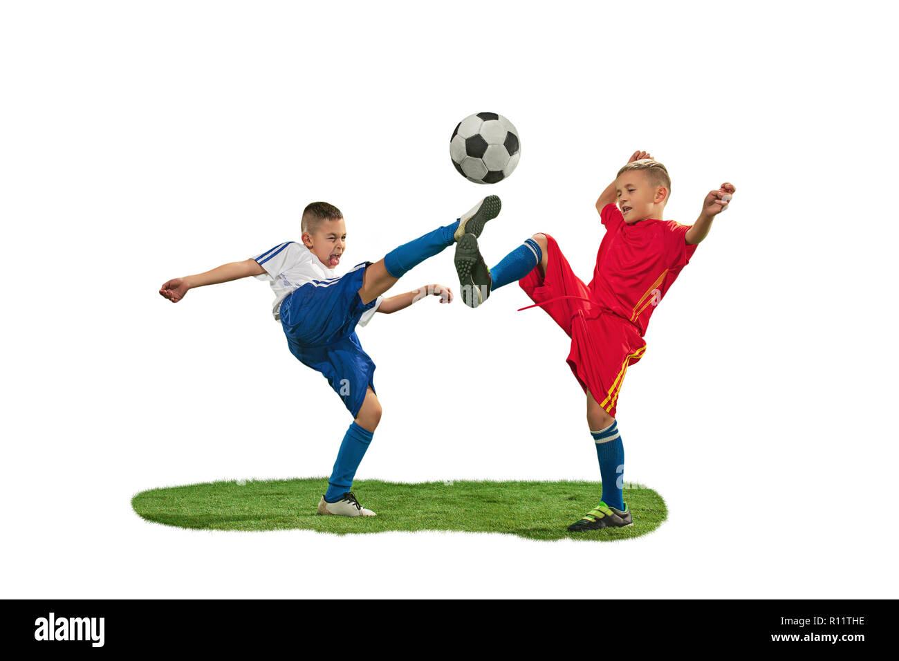 Soccer Player Doing Kick Ball Imágenes De Stock   Soccer Player ... 31e4a181b5b61