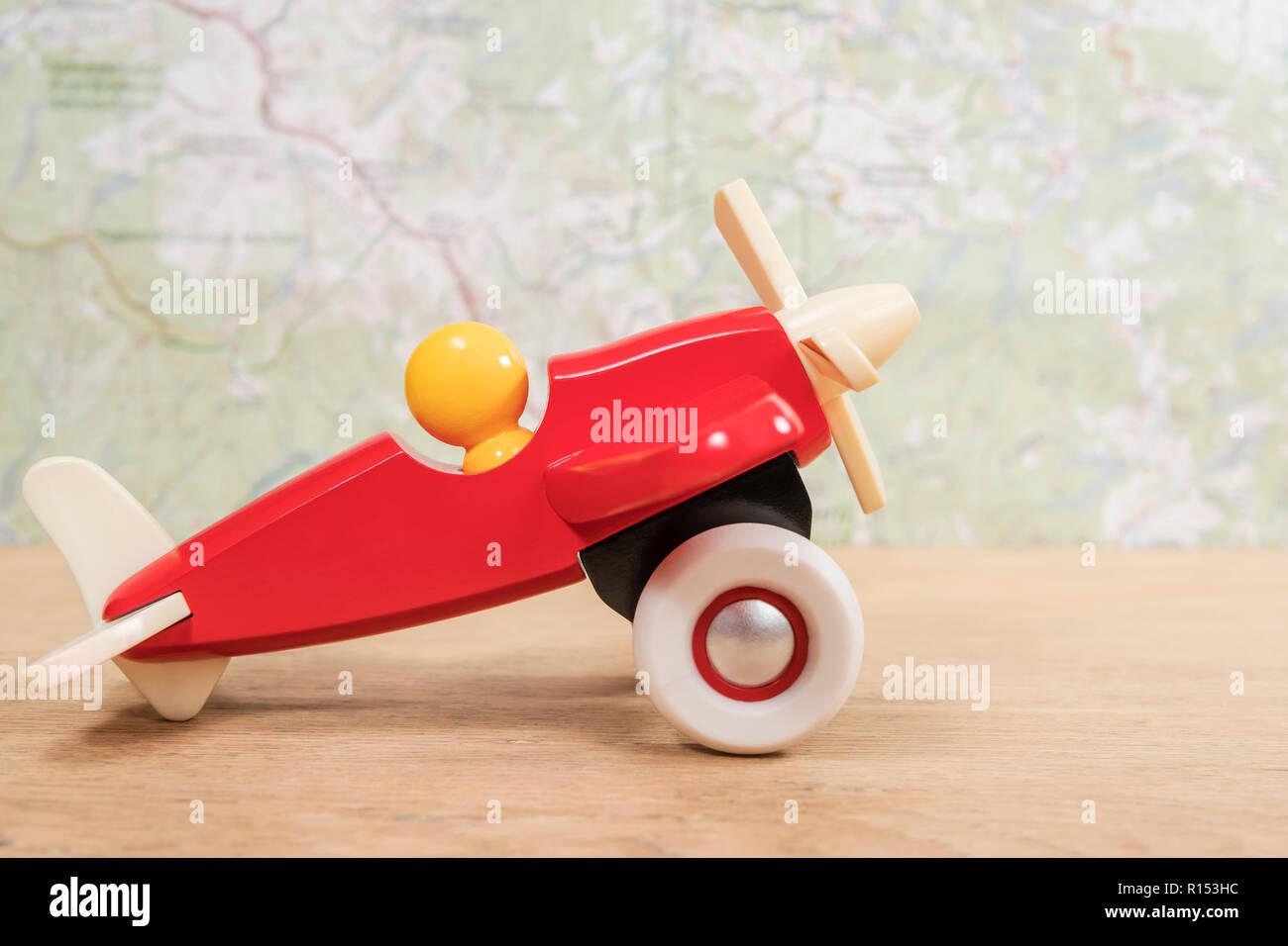 Stockamp; De Imágenes Old Wooden On Toy Plane HID29E