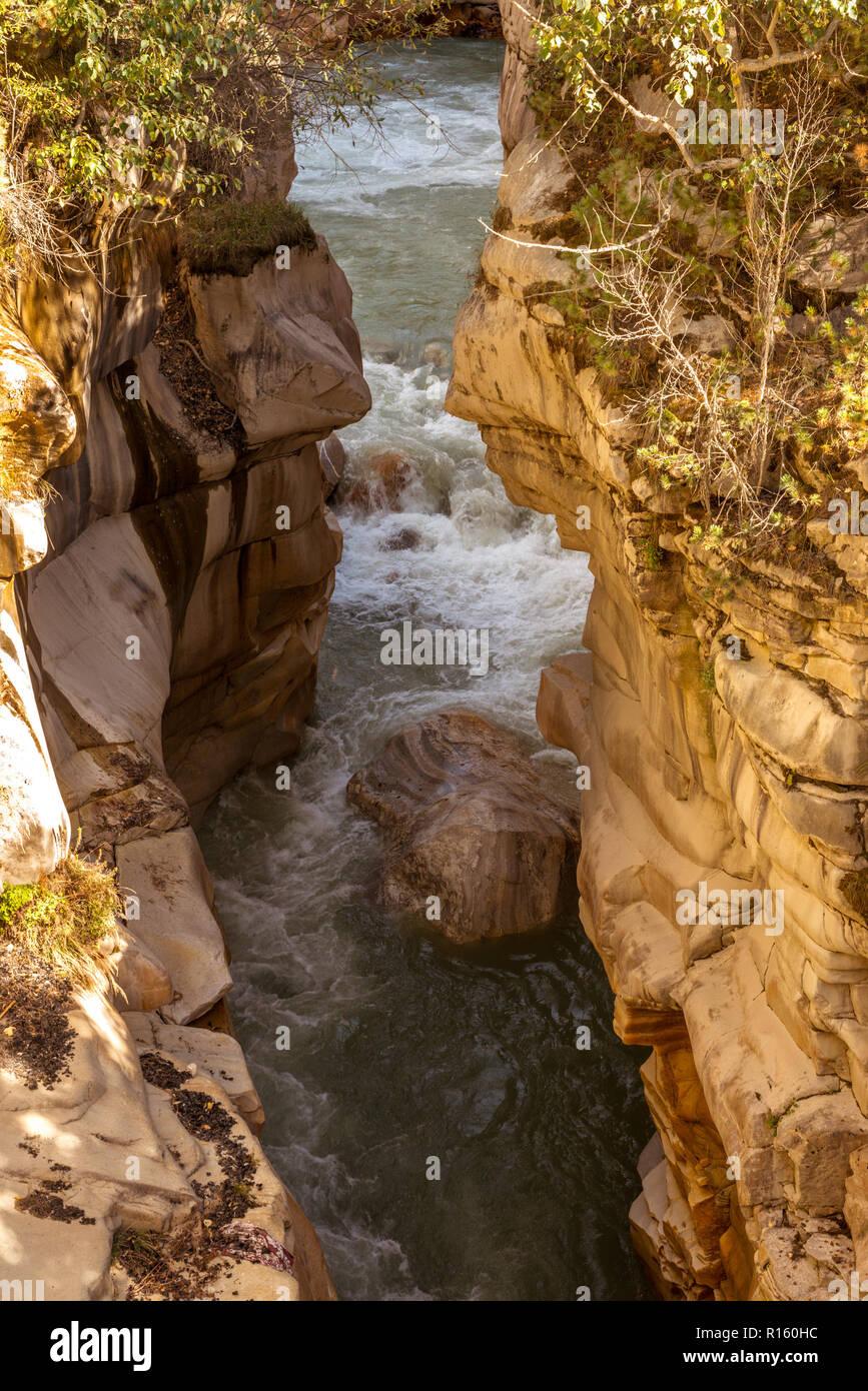 En Gangotri - Uttrakhand Gaurikund Foto de stock