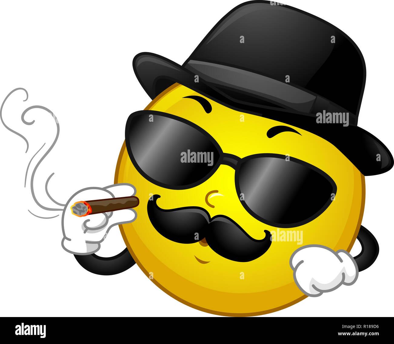 Ilustración de una mascota sonriente vistiendo trajes de la Mafia en Black  Hat 92147103f0c
