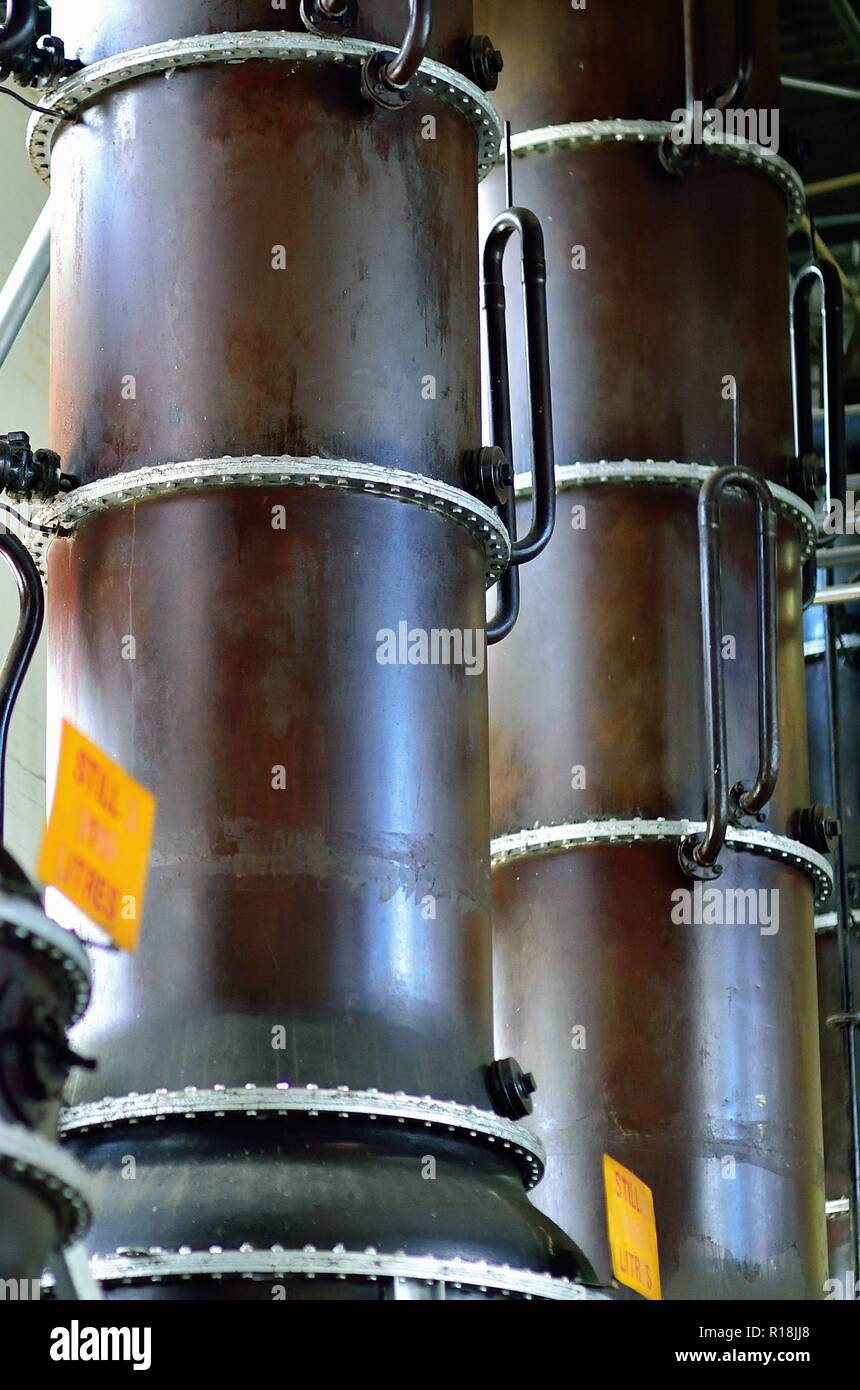 Londres, Inglaterra, Reino Unido. Imágenes fijas en el Beefeater Gin Kennington destilería en la región de Londres de Lambeth. Foto de stock