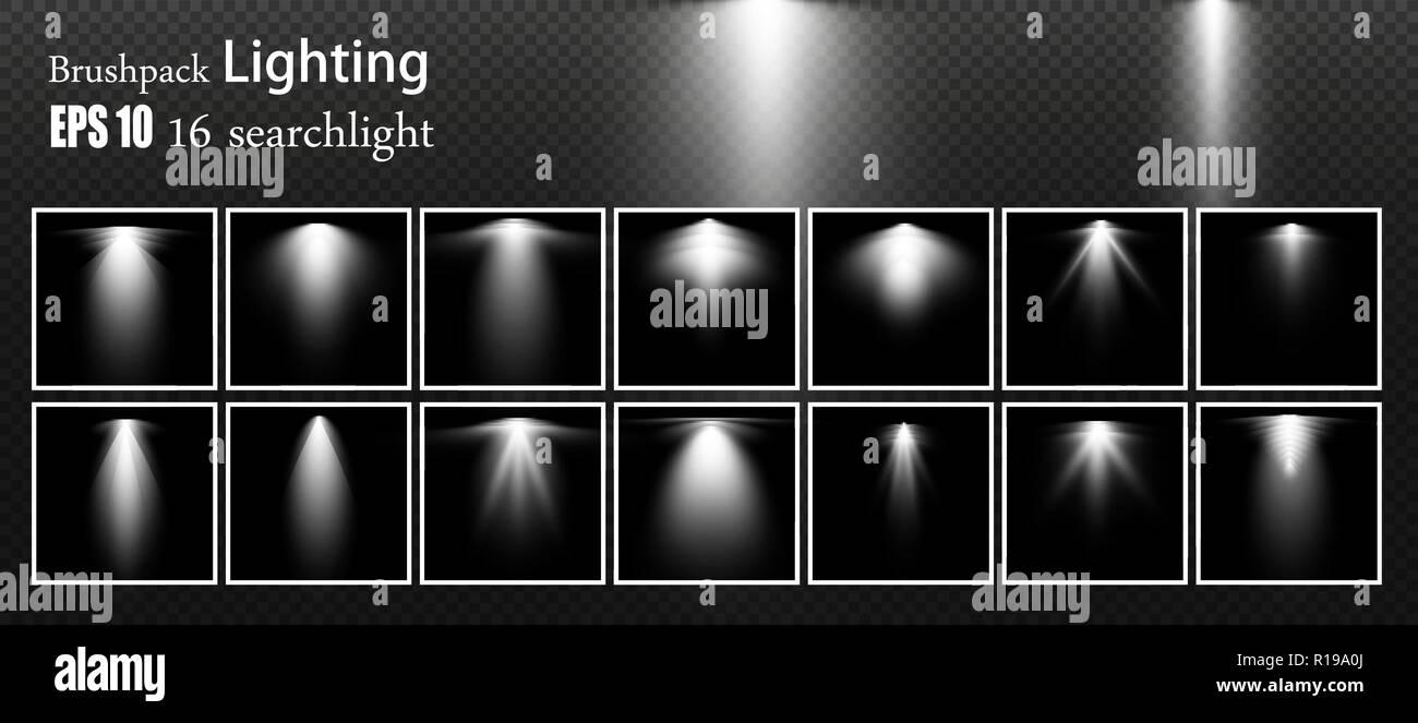 De Fuentes Un LuzIluminación Conjunto ReflectoresVector 5Rj34LA