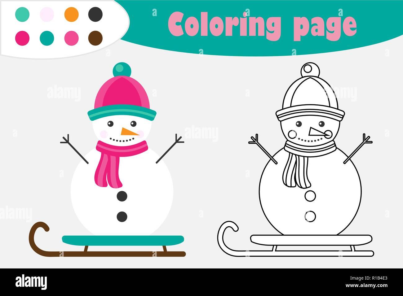 Muñeco De Nieve En El Estilo De Dibujos Animados Navidad