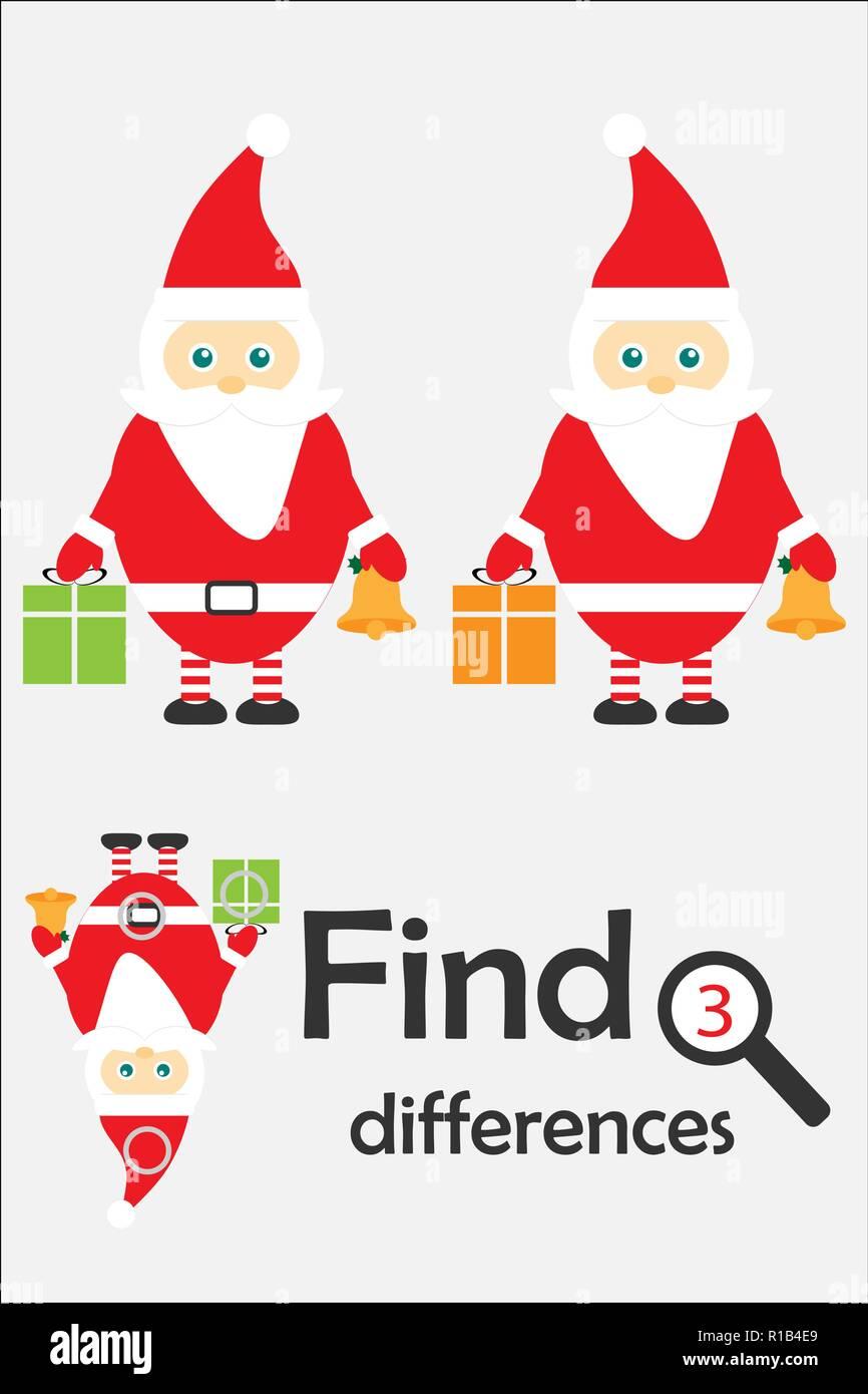 Encontrar 3 Diferencias Juego De Navidad Para Ninos Santa Claus En