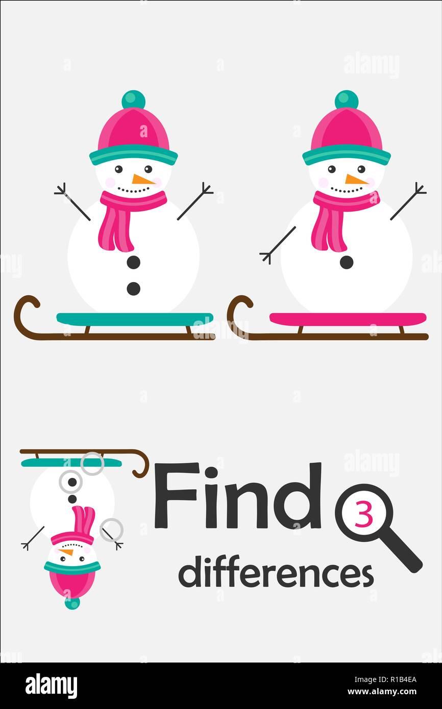 Encontrar 3 Diferencias Juego De Navidad Para Ninos El Muneco De