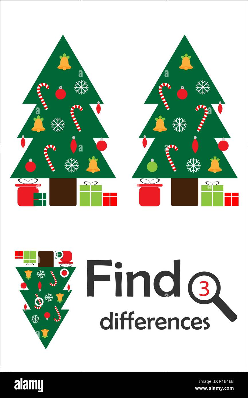 Encontrar 3 Diferencias Juego De Navidad Para Ninos Arbol De