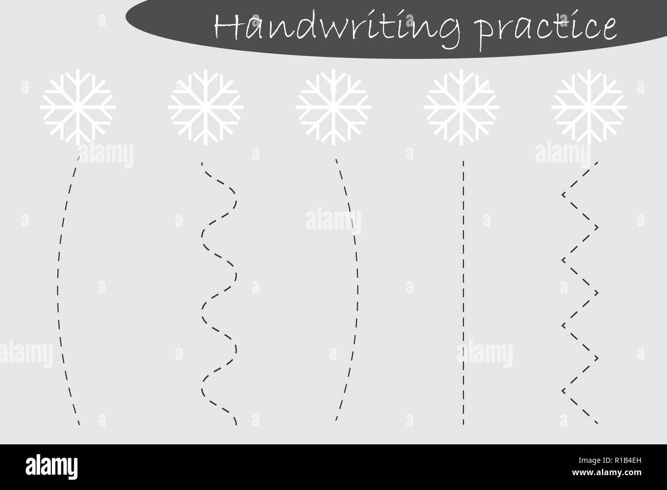 Hoja De Practica De Escritura Tema De Navidad Copos De Nieve Los